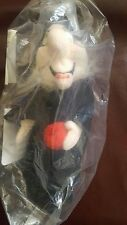"New With Tag  Disney Store Scary Black Witch mini bean bag baby 8"". # 18415"