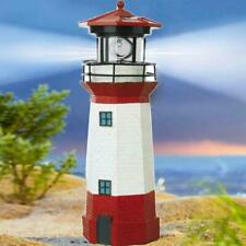 Outdoor Patio or Garden Solar LED Powered Lighthouse Motion Decor Statue M3X9