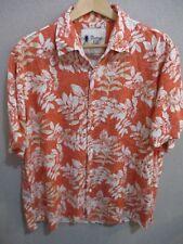Vintage Silk Circa 1969 Orange Hawaiian Shirt Size XL