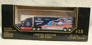1994 Racing Champions 1/87 Ford Quality Care #15 Lake Speed Die Cast Transporter