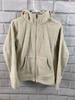 Patagonia Fleece Full Zip White Hooded Jacket Polyester Womens Size Medium