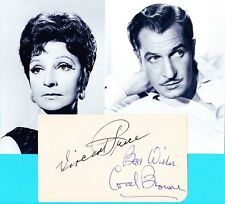 Vincent Price / Coral Browne   Autograph , Original Hand Signed Photo