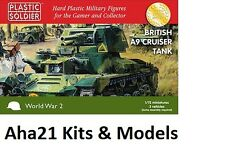 Plastic Soldier 1/72 Scale British A9 Cruiser Tank (3 Fast Assembly Tanks)