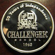 2012 Challenger School Barbara B. Baker 1 Troy Oz. .999 Silver Round