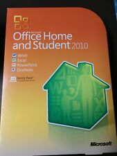 Microsoft Office Home and Student 2010 Software for Windows Great Condition