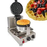 Commercial Use Nonstick 110V Electric 180° Rotating Belgium Waffle Baker