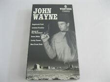 New! Sealed! John Wayne 6 Western Classics VHS Cassette Tape - Trail Lucky Utah