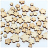 50pcs Wooden Craft Wood Flowers 5 Petal-Craft Card Making Scrapbooking New