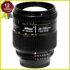 Obiettivo Nikon AF Nikkor 28/105 mm f3,5-4,5 D macro per fotocamere reflex.