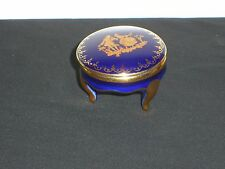 Beautiful Limoges France Footed Trinket Box