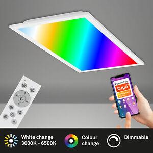 LED Panel Smart Home WiFi dimmbar RGB App-Steuerung 24W Weiß Briloner Leuchten