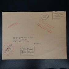 POST NAVAL LETTER COVER MARINE FRENCH IN MOROCCO MINISTRY AFFAIRE FOREIGN