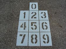 "8"" Number Stencils Playground Parking Lot Stencils 1/16"" Ldpe ReUsable Plastic"