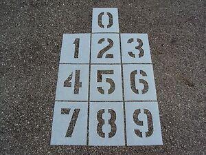 "8"" Number Stencils Playground Parking Lot Stencils 1/16"" LDPE ReUsable Plastic"