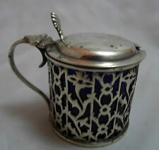 Victorian Gothic Style Silver Mustard Pot Deakin  & Francis 1900