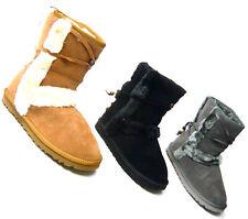 Markenlose flache/boots Stiefeletten