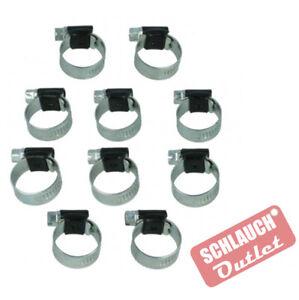 10er Pack Schlauchschelle von 07mm bis 138mm vers. Rohrschelle Klemmschelle