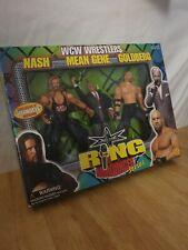 WCW Ring Announcer Series Nash Mean Gene Goldberg Action Figure Set Toybiz 1999