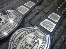 NEW! Premium Tag Team Championship Belts 2 Belts Avenger Metal Plates Adult Size