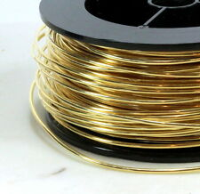 Brass Wire, 14 Gauge, Dead Soft, Round Brass Jewelry Wire, 10 Feet, 015