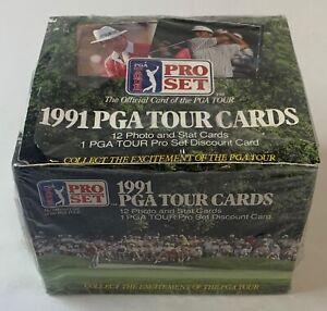 1991 Pro Set PGA Tour golf cards ~ FULL SEALED BOX ~ 36 packs
