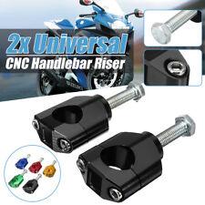 28mm 1 1/8'' CNC HandleBar Fat Bar Mount Clamps Raiser For Honda Kawasaki Suzuki