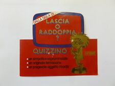 ADESIVO anni '70 / Old Sticker MIKE BONGIORNO LASCIA O RADDOPPIA? (cm 15 x 13)