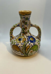 """Italy-like Pottery Hand Painted Floral Vase (6"""" x 4"""")"""