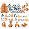 8pcs 3D Christmas Cake Cookie Cutter Mold Kitchen Baking Pastry Tool Cake Dec_ne