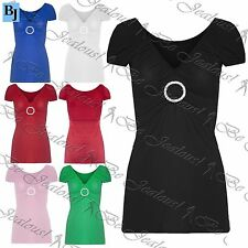 Unbranded Viscose V Neck Cap Sleeve Tops & Shirts for Women