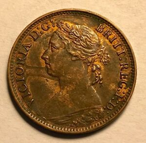 GREAT BRITAIN - Queen Victoria - Farthing 1882H - KM-753 - About Uncirculated