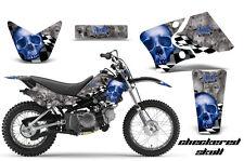 Graphics Kit Decal Wrap + # Plates For Yamaha TTR90 TTR90E 2000-2007 CHECKER U S