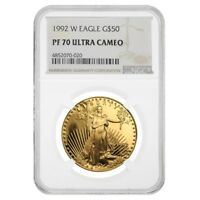 1992 W 1 oz $50 Proof Gold American Eagle NGC PF 70 UCAM