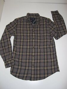 ST. JOHNS BAY Button-Up-Front Flannel Shirt S Small sz Men's (Plaid #4) NEW NWT