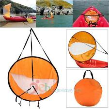 """42"""" Kayak Wind Paddle Sailing Popup Board Sail Rowing Downwind Boat Clear Window"""