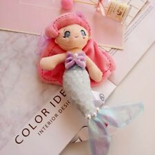 Japan NEW Disney Little Mermaid Princess Ariel Plush Toy Keychain Ring 22cm