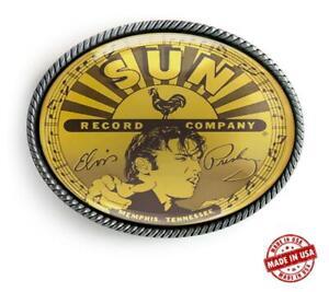Elvis Presley Retro Record Label Art Handmade Artisan Belt Buckle