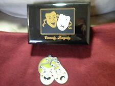 Black Enamel Jewelry Music Box Comedy / Tragedy Masks & Sun catcher Lot: used