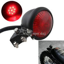 Black Red Lens Motorcycle Retro Bates Style LED Tail Brake Running Light ATV KTM