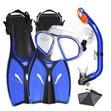 Spectrum Youth Kid Child Snorkeling Mask Fins Dry Snorkel Mesh Bag Dive Gear Set
