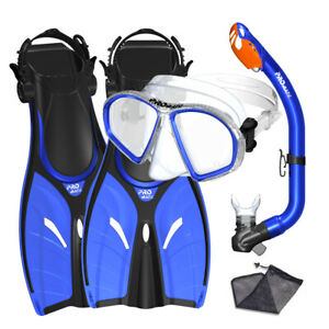 Spectrum Youth Kid Child Snorkeling Mask Fins Dry Snorkel Mesh Bag Dive Gear Set