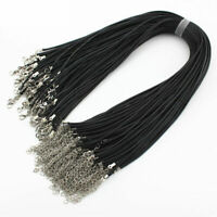 Verkauf Sterling Silber braune runde Echt Leder Kordel Halskette/Armband