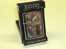VINTAGE ZIPPO LIGHTER - HIGH POLISH CHROME W. ENGRAVING - NEVER STRUCK - 1998