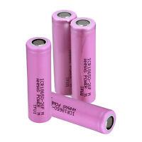 4 PCS ICR 18650 3.7V 2600mAH Li-ion Flat Top Rechargeable Batteries Battery