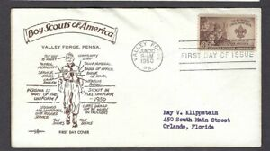 1950 #995 Boy Scout FDC Valley Forge PentArts uniform