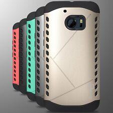 For HTC 10 Case Black Hard Modern Hybrid Slim Phone Armor Guard Cover