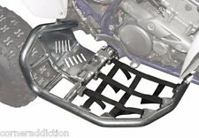 Nerf Bars with Solid Heel Plates for HONDA 400EX 1999-2007 SILVER/Black Webbing