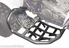 Tusk Foot Peg Nerf Bars w/ Solid Heel Plates TRX 450ER 450R Silver/Black Webbing