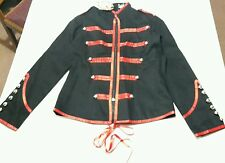 Banned Apparel black and red gothic military style coat jacket XS Size 8