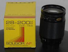 Soligor AF Zoom 28-200mm MC 1:3,5-5,6 Objektiv für Minolta